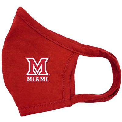 Miami Blue 84 Side M Logo Face Mask