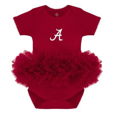 Alabama Infant Creative Knitwear Script A Solid Tutu Bodysuit