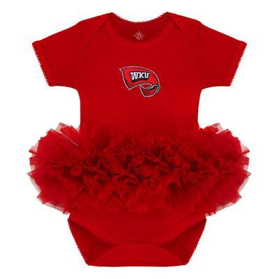 Western Kentucky Infant Creative Knitwear WKU Logo Solid Tutu Bodysuit