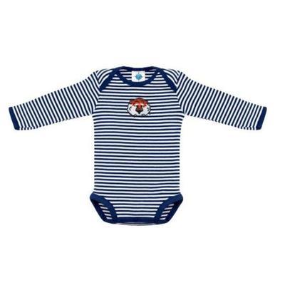 Auburn Infant Creative Knitwear Aubie Striped Long Sleeve Bodysuit