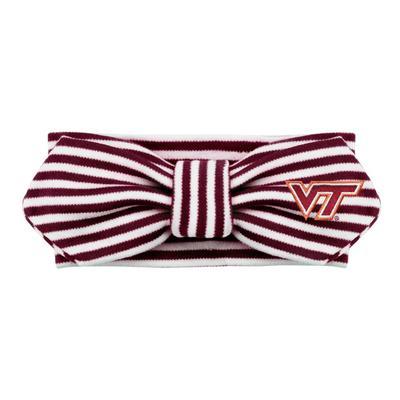 Virginia Tech Infant Creative Knitwear Striped Knot Headband