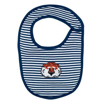 Auburn Infant Creative Knitwear Aubie Striped Knit Bib