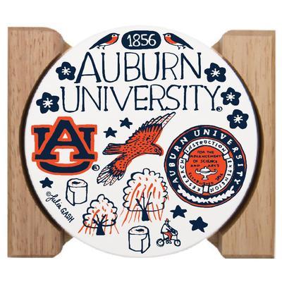 Auburn Tigers Julia Gash Drink Coasters (4 Pack)