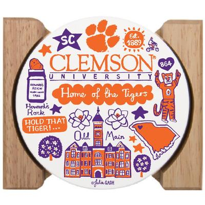 Clemson Tigers Julia Gash Drink Coasters (4 Pack)