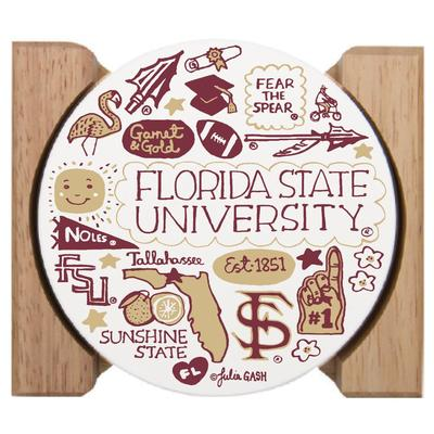 Florida State Julia Gash Drink Coasters (4 Pack)