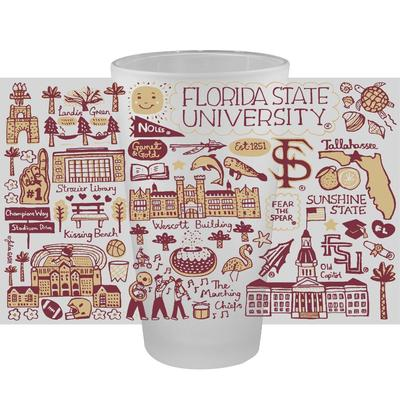 Florida State Julia Gash 16oz Frosted Pint Glass