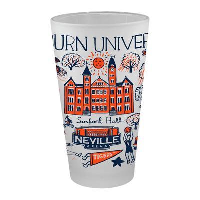 Auburn Tigers Julia Gash 16oz Frosted Pint Glass