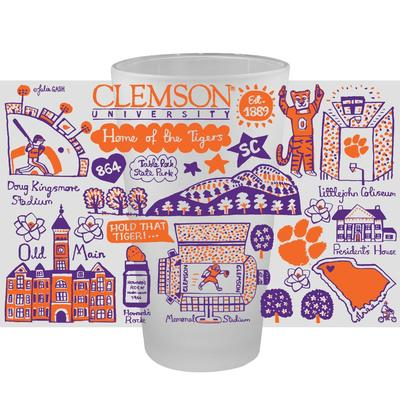 Clemson Tigers Julia Gash 16oz Frosted Pint Glass