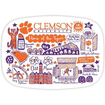 Clemson Tigers Julia Gash 14 inch Serving Platter