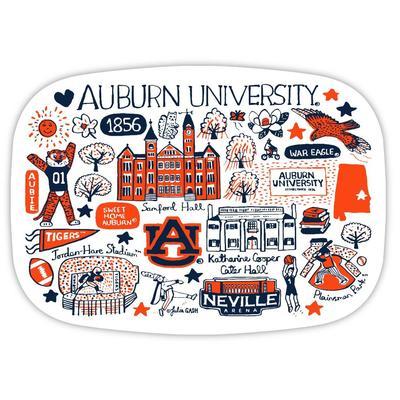 Auburn Tigers Julia Gash 14 inch Serving Platter