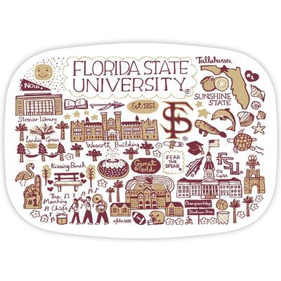 Florida State Julia Gash 14 inch Serving Platter