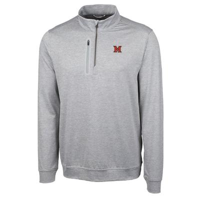 Miami Cutter and Buck Men's Stealth 1/2 Zip Pullover