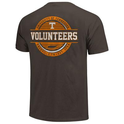 Tennessee Striped Stamp Short Sleeve Comfort Colors Tee