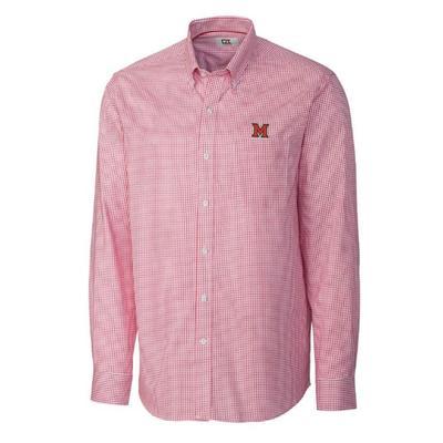 Miami Cutter and Buck Men's Tattersall Dress Shirt