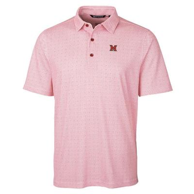 Miami Cutter and Buck Pike Double Dot Print Polo