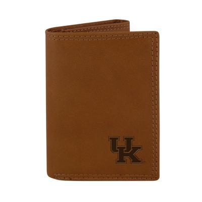 Kentucky Zeppro Embossed Trifold Wallet