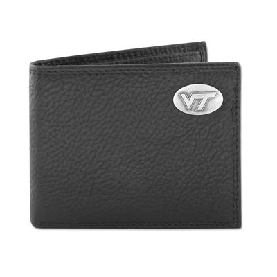 Virginia Tech Zeppro Bifold with Concho Wallet