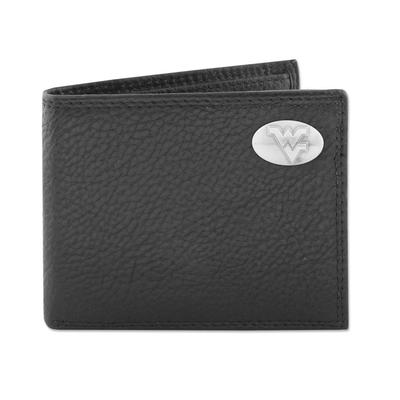 West Virginia Zeppro Bifold with Concho Wallet