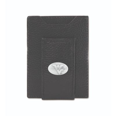 West Virginia Zeppro Front Pocket Wallet with Concho