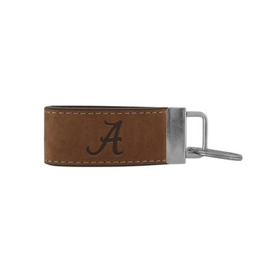 Alabama Zeppro All Leather Embossed Key Fob