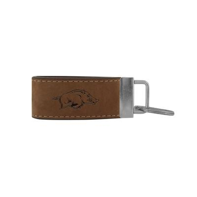 Arkansas Zeppro All Leather Embossed Key Fob