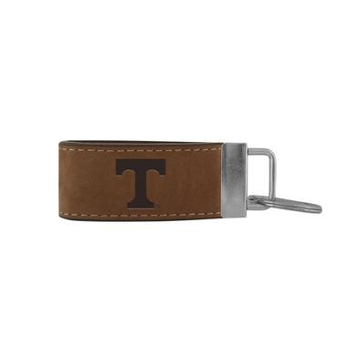 Tennessee Zeppro All Leather Embossed Key Fob