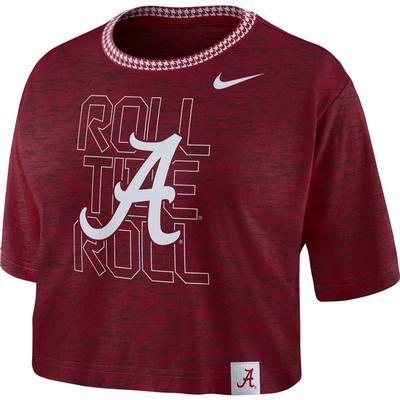 Alabama Nike Women's Slub Crop Tee