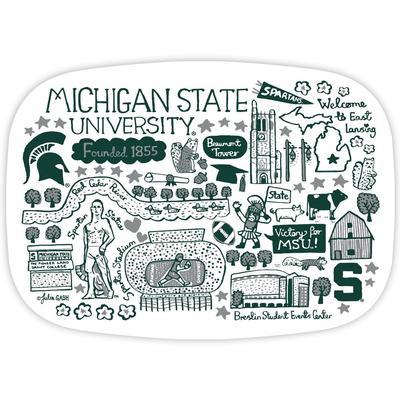 Michigan State Julia Gash 14 inch Serving Platter