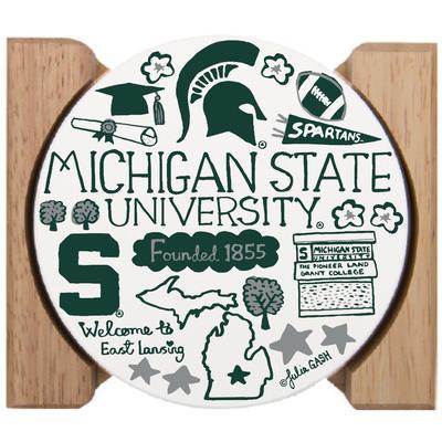 Michigan State Julia Gash Drink Coasters (4 Pack)
