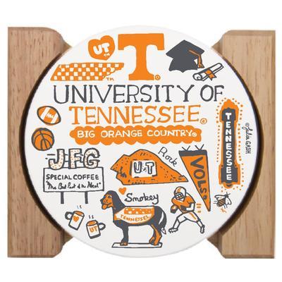 Tennessee Vols Julia Gash Drink Coasters (4 Pack)