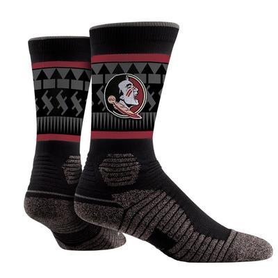 Florida State Tribal Print Performance Sock