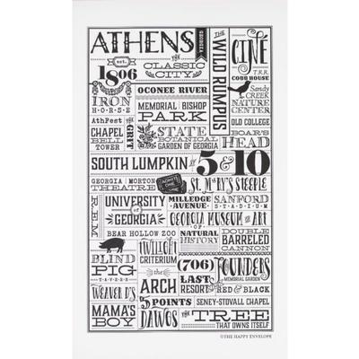 The Happy Envelope Athens City Print