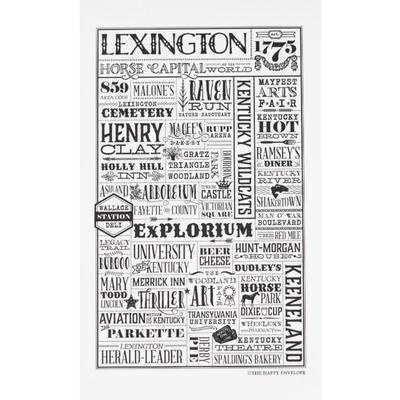 The Happy Envelope Lexington City Print