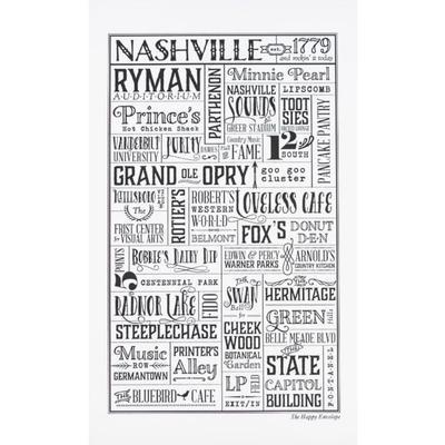 The Happy Envelope Nashville City Print