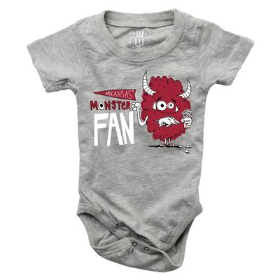 Arkansas Infant Monster Fan Onesie