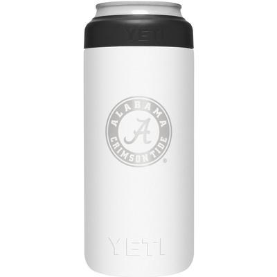 Alabama Yeti White Primary Logo Slim Colster