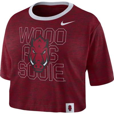 Arkansas Nike Women's Slub Crop Tee