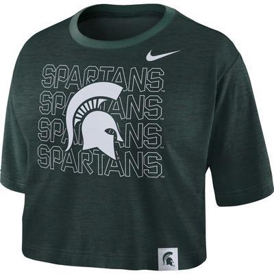 Michigan State Nike Women's Slub Crop Tee