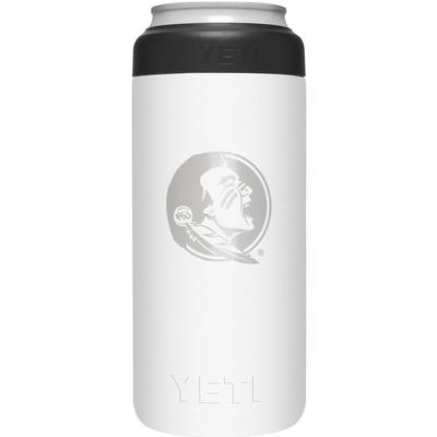 Florida State Yeti White Primary Logo Slim Colster