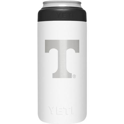 Tennessee Yeti White Primary Logo Slim Colster