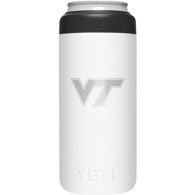 Virginia Tech Yeti White Primary Logo Slim Colster