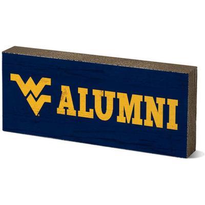 West Virginia Legacy Alumni Mini Table Block