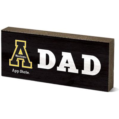 Appalachian State Legacy Dad Mini Table Block