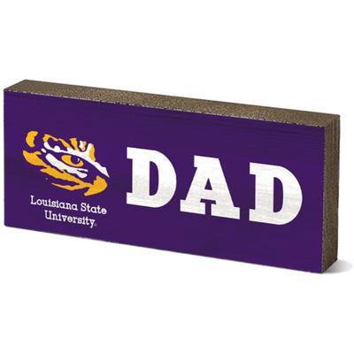 LSU Legacy Dad Mini Table Block
