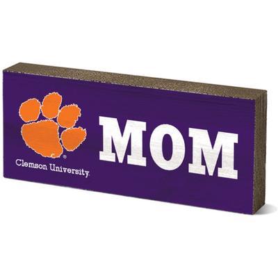 Clemson Legacy Mom Mini Table Block