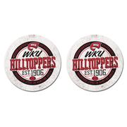 Western Kentucky Legacy 2pk Ring Of Honor Car Coaster