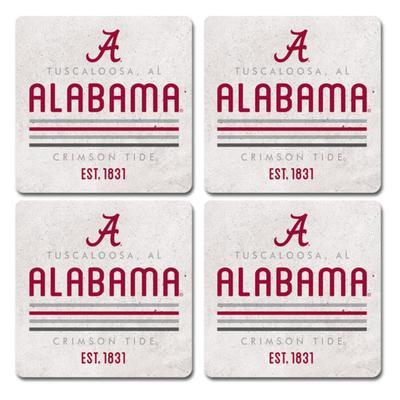 Alabama Legacy 4pk Parallel Coaster