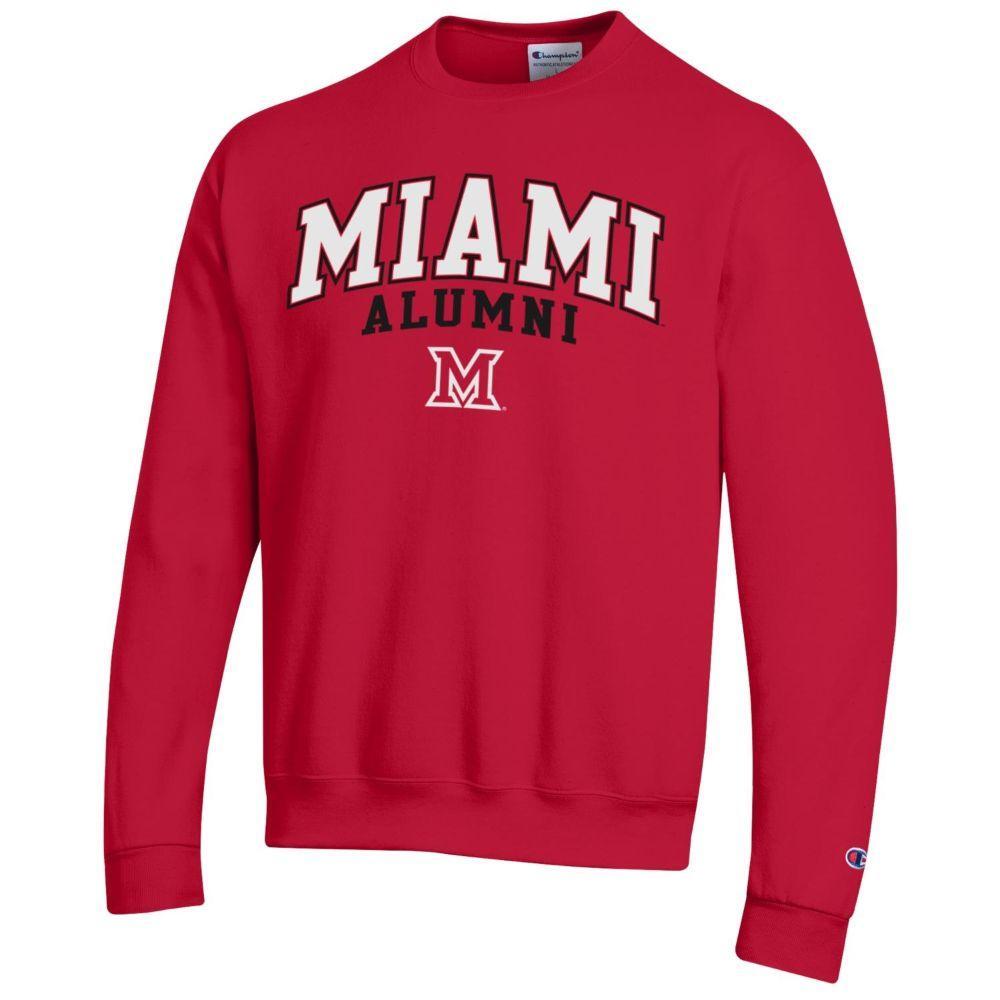 Miami Champion Arch Alumni Fleece Crew