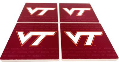 Virginia Tech 4 pk Drink Coaster Set