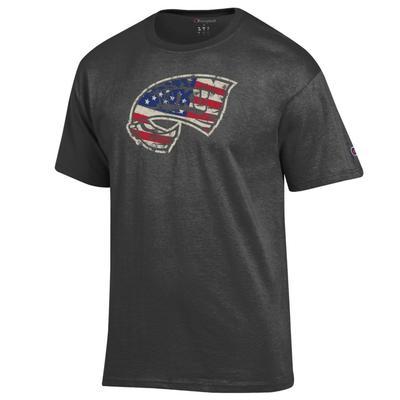 Western Kentucky Champion Giant Logo Flag Fill Americana Tee